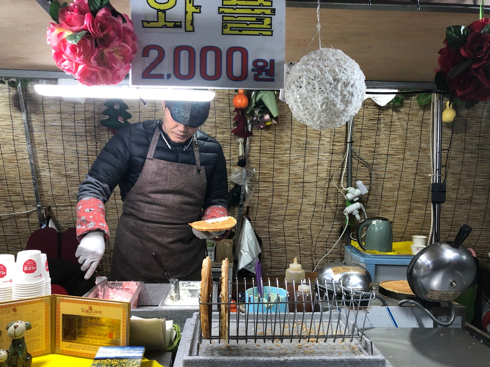 Waffles   Myeongdong Market