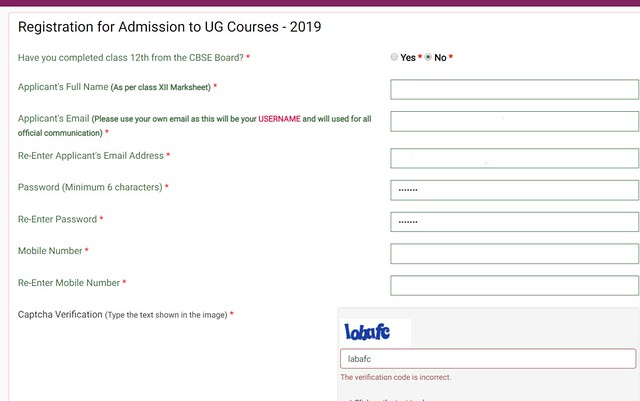 DU Online Admission Registeration