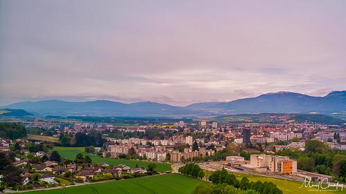 Yverdon-les-Bains depuis le gymnase