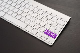 Keyboard With HTML Key in Purple | by Cloud Income