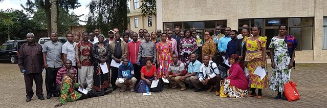 Participants of a validation workshop in Tukuyu, Tanzania.