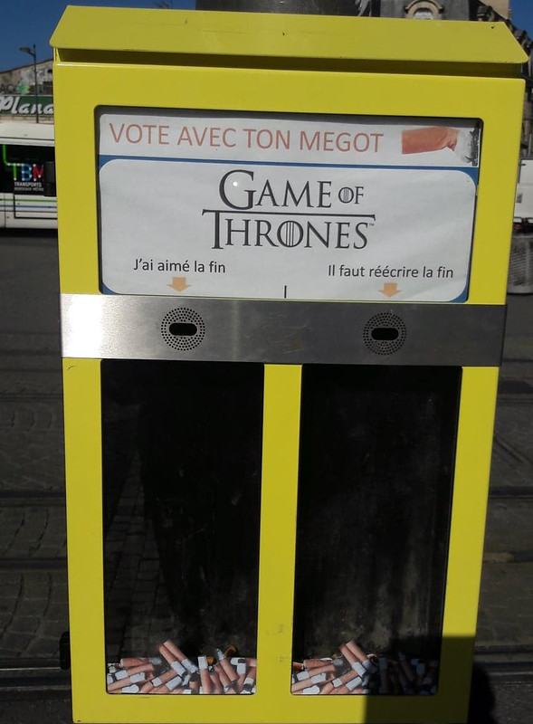 Vote avec ton mégot : Game of Thrones