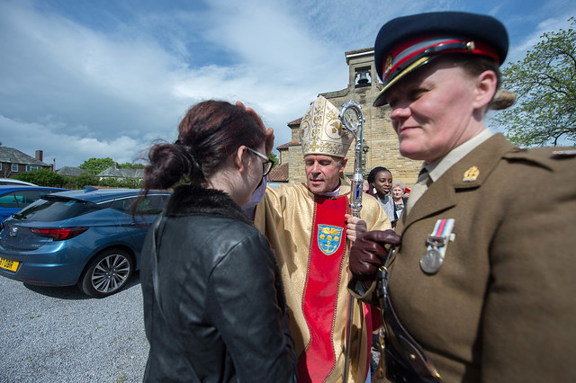 Bishop Paul Mason celebrated Mass of the 90th anniversary of the foundation of St Joan of Arc Army and RAF in Catterick Garrison.