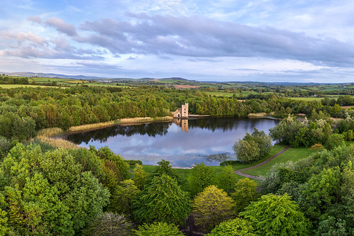 ancient oakfield oak field park raphoe castle lake walled gardens swans reflection demesne georgian railway train tracks oakfest woodland town trees flowers strabane deanery irish sunset cloudy clouds county donegal ireland summer landmark tourist site famous visit scenic countryside gareth wray photography sun historic aerial drone dji phantom p4p pro quadcopter photographer garethwrayphotography vacation holiday europe architecture landscape 4 sky