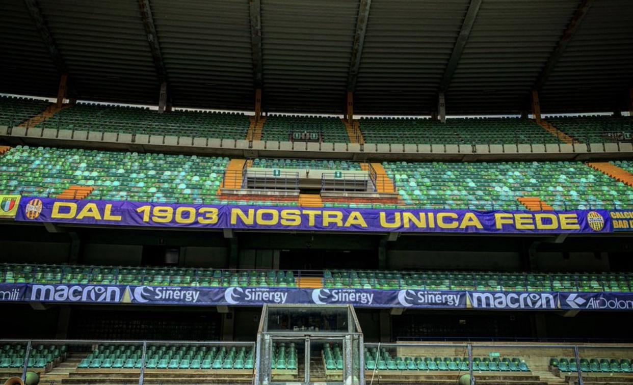 Hellas Verona-Cittadella, esauriti settori Curva Sud ...