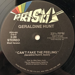 GERALDINE HUNT:CAN'T FAKE THE FEELING(LABEL SIDE-B)