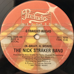 THE NICK STRAKER BAND:STRAIGHT AHEAD(LABEL SIDE-A)