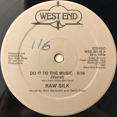 RAW SILK:DO IT TO THE MUSIC(LABEL SIDE-A)