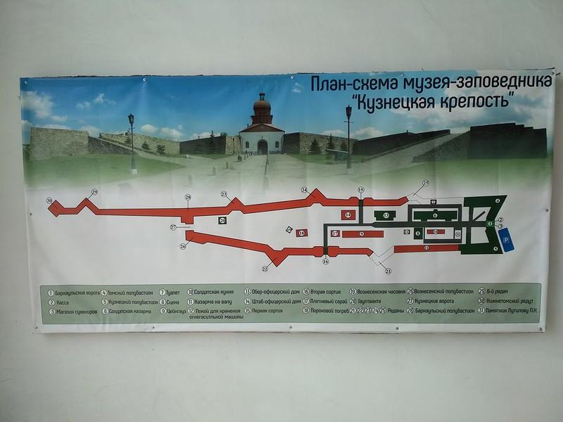 Кузнецкая крепость - План-схема