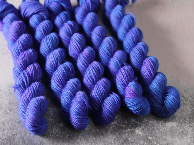 Favourite Sock Minis – pure Merino wool superwash 4 ply / fingering hand dyed yarn 20g miniskeins – 'Twilight'