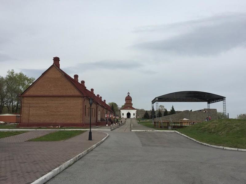 Кузнецкая крепость - Вид со стороны обер-офицерского дома