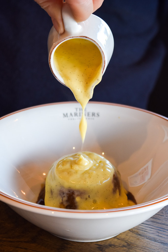 Golden Syrup Steamed Brown Butter Pudding at The Mariners, Rock