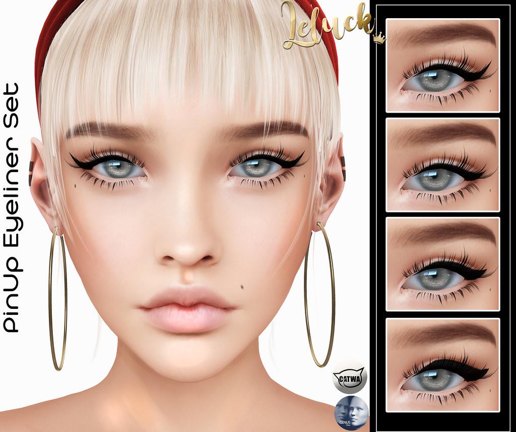 [LeLuck] PinUp Eyeliner Set