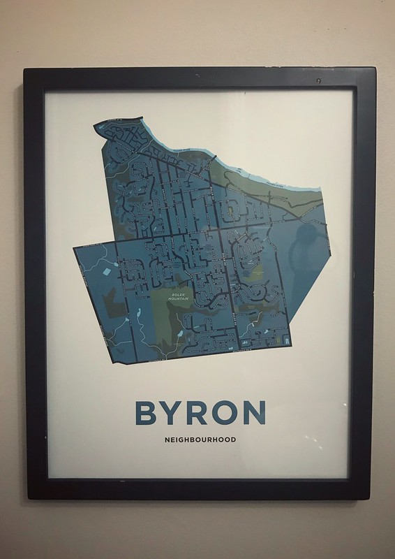 Map of Byron neighborhood