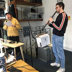 Hygiene and Robert Sotelo performing live in session on an Upset The Rhythm Special on The deXter Bentley Hello GoodBye Show on Resonance 10.4.4 FM in Central London on Saturday 23rd March 2019
