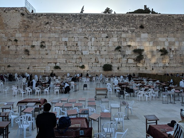 the Wailing Wall has different sections for men and women