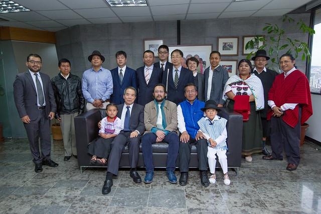 Visita Viceministro de asuntos  Étnicos de la República Popular de China