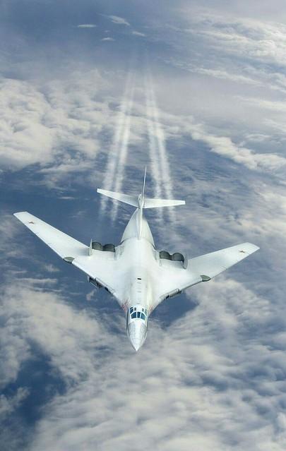 Tupolev Tu-160 (Russian: Туполев Ту-160 Белый лебедь, romanized: Belyy Lebed, lit. 'White Swan'; NATO reporting name: 'Blackjack')
