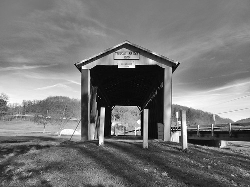 trusal covered bridge indiana county transportation historical landmark old history historic blackwhite blackandwhite bw scenic landscapes scenery pa pennsylvania georgeneat patriotportraits neatroadtrips