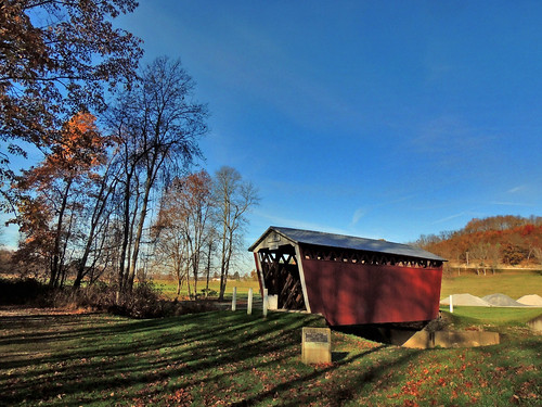 trusal covered bridge indiana county transportation historical landmark old history historic scenic landscapes scenery pa pennsylvania georgeneat patriotportraits neatroadtrips