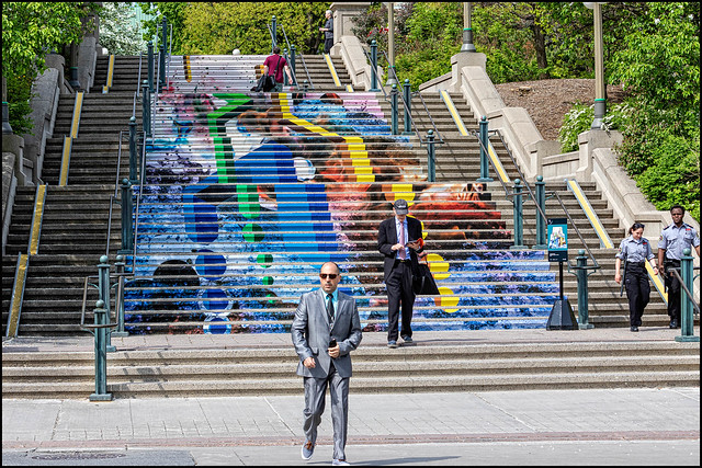 Stair Art on Sussex Drive