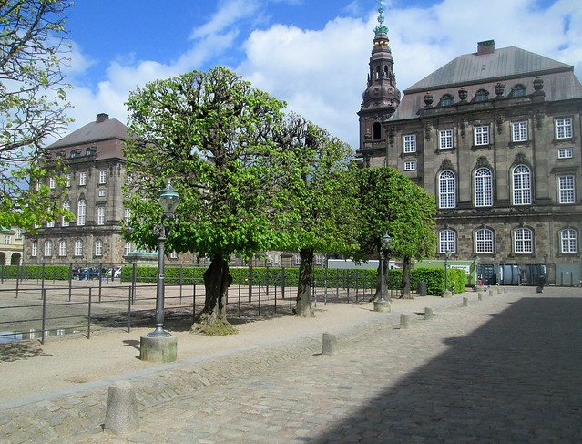Pleached Trees, Christiansborg Palace and Lamps