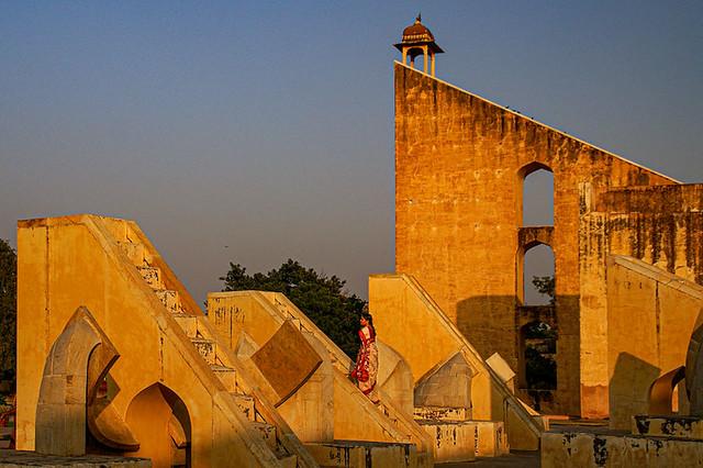 Jantar Mantar.  The garden of astronomical instruments. Jaipur. Rajasthan. India.