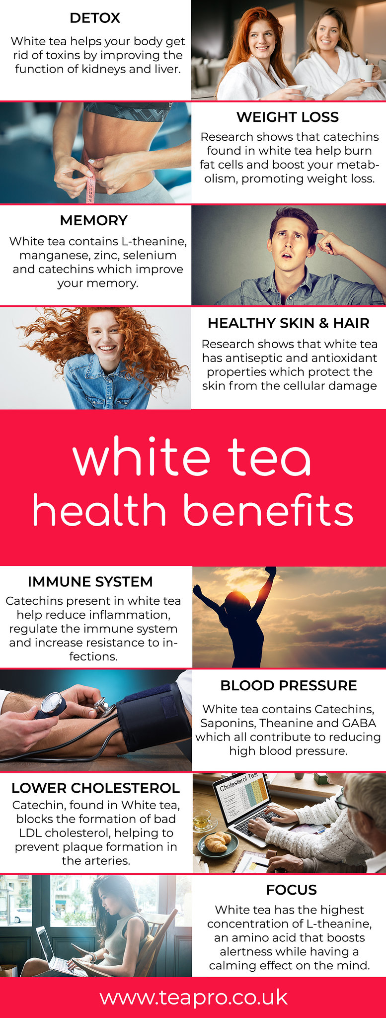 White Tea health benefits by Teapro