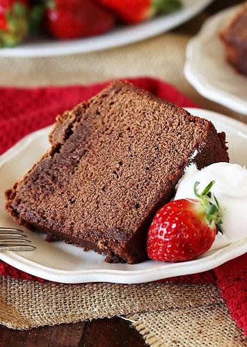 Chocolate-Pound-Cake-Slice-on-Plate-Image 2