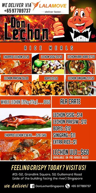 Don Lechon Menu