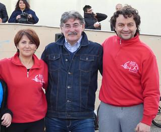 La presidente Campanelli con l'assessore Loiudice e il tecnico Losito