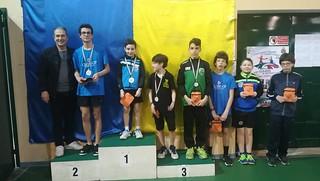 Il podio maschile della fase regionale Trofeo Coni