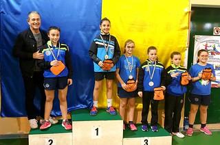Il podio femminile della fase regionale Trofeo Coni