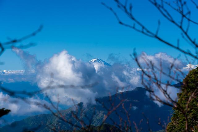富士山は雲に隠れる寸前