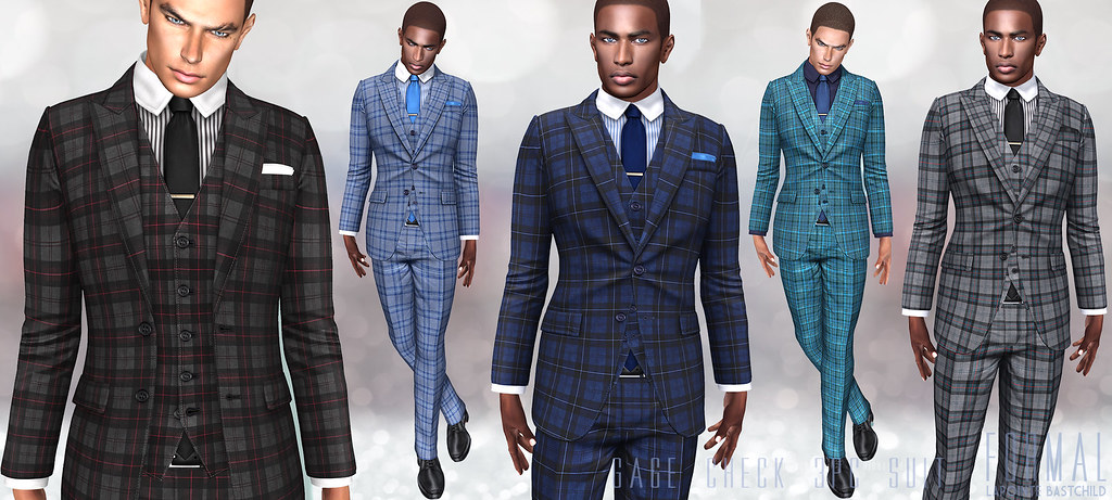L&B for TMD:June  Gage Plaid 3PC Suits!