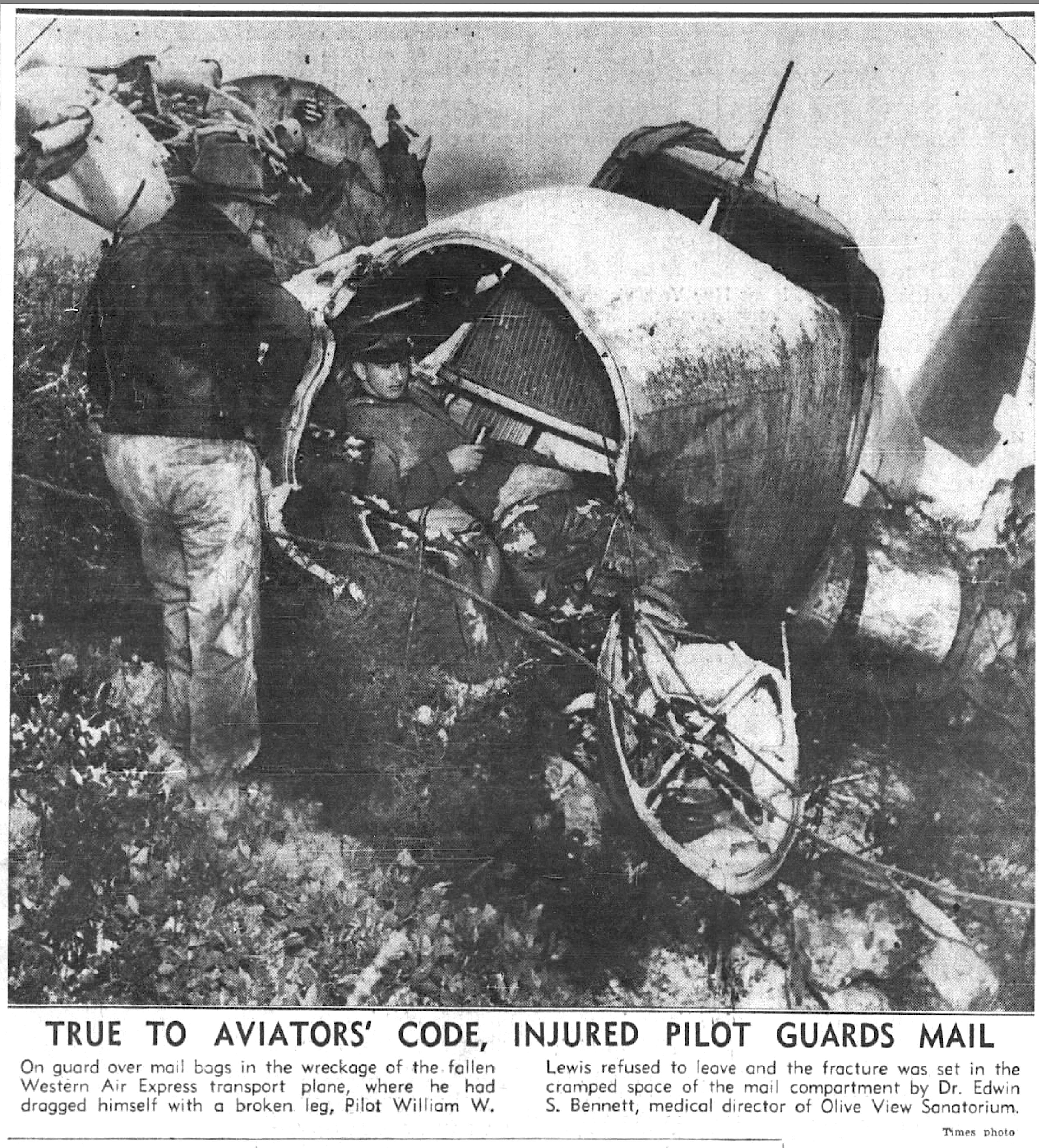 Los Pinetos Boeing 247D Aircraft Wreck
