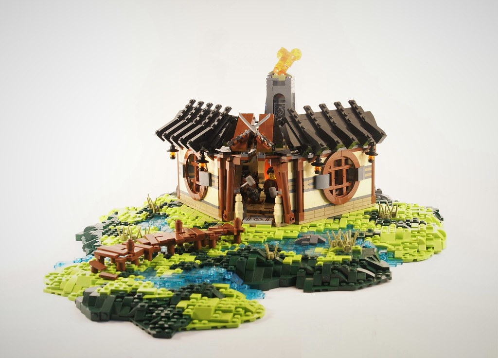 Dragon's Forge (custom built Lego model)