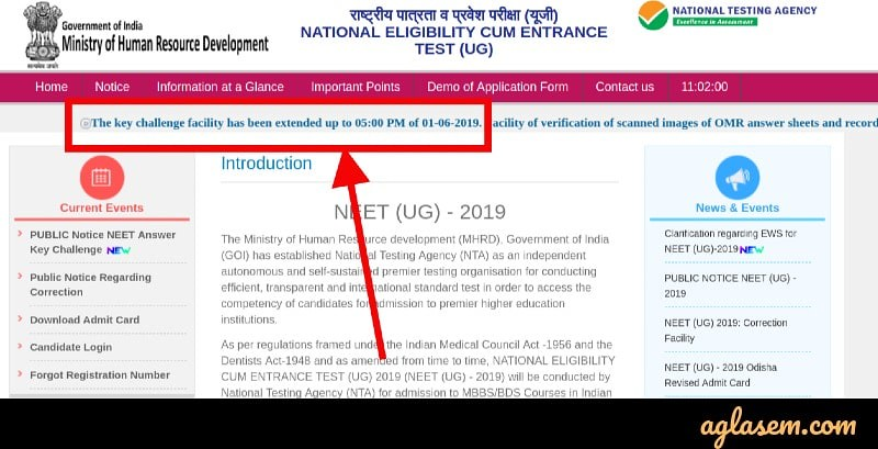 NEET 2019 Answer Key Challenge Date Extended till 1 June; OMR Sheet Released at ntaneet.nic.in