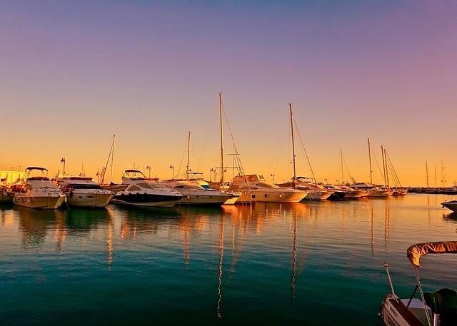 Sunset reflections - Limassol, Cyprus