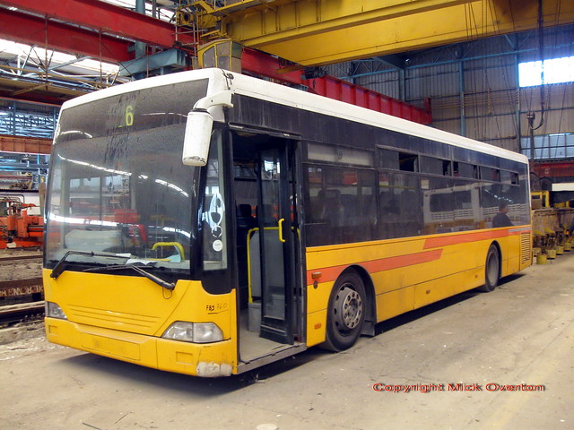 Malta bus 2003 MCI FBY760 with manual gearbox withdrawn 2011 prior to scrapping