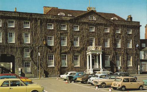 The Angel Hotel, Bury St Edmunds old postcard early 1970s | by Spottedlaurel