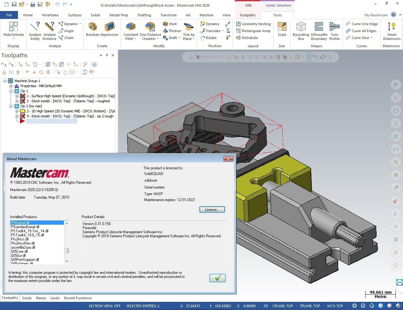 Programming with Mastercam 2020 (v22.0.18285.0) Win64 full license