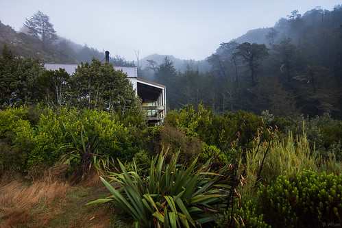 mtsomers canterbury nz hiking tramping hills mountains outdoors landscape hut cloud