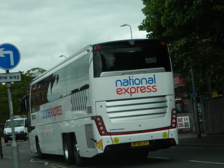 east yorkshire motor services national express 4 BF68 LCY rear