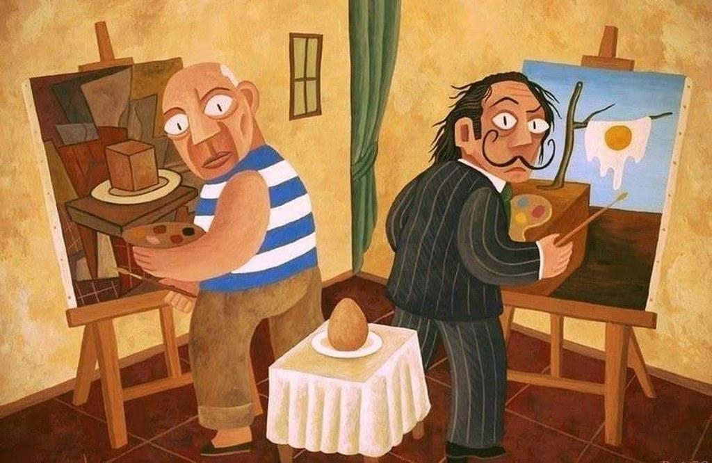 Picasso and Dali - Egg