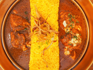 Two Curries Combo / Spicy Chicken Curry & Butter Chicken Curry