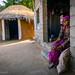 Bishnoi villager at her doorstep