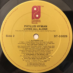 PHYLLIS HYMAN:LIVING ALL ALONE(LABEL SIDE-B)