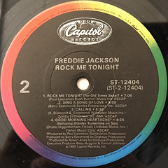 FREDDIE SCOTT:ROCK ME TONIGHT(LABEL SIDE-B)