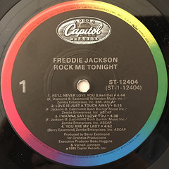 FREDDIE SCOTT:ROCK ME TONIGHT(LABEL SIDE-A)